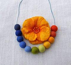 Sady šperkov - ...plstený set - náhrdelník s brošňou... - 9016038_
