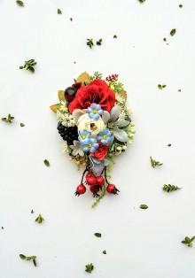 Odznaky/Brošne - Kvetinová brošňa - 9017204_