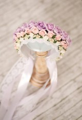 Ozdoby do vlasov - Kráľovská trojradová svadobná parta - 9019579_