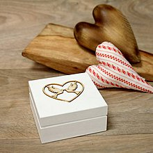 Krabičky - Drevená krabička na prstene - 9016761_