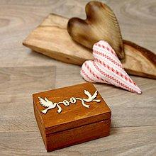 Krabičky - Drevená krabička na prstene - 9017027_