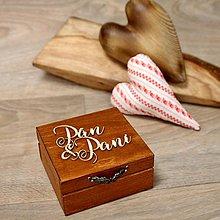 Krabičky - Drevená krabička na prstene - 9017043_