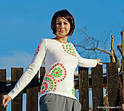 Dámske tričko maľované, etno GEETA