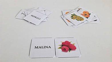 Hračky - OVOCIE kartičky - 9019796_