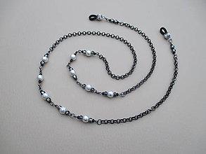 Iné šperky - Retiazka na okuliare z bižutérneho kovu - 9018913_