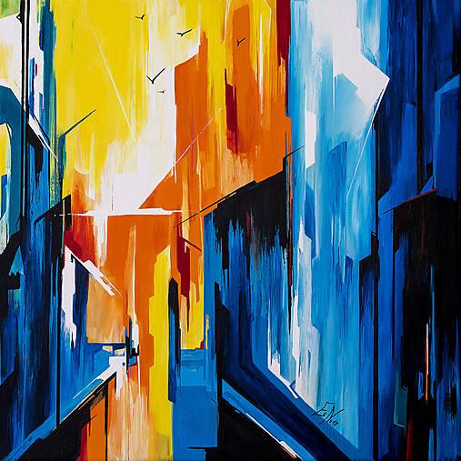 Obraz From the window, 50 x 50 cm, akryl na plátne
