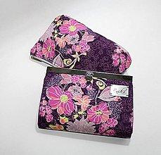 Peňaženky - Rámčeková peňaženka + kozmetick taštička - 9017529_