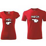Môj / Moja - zaľúbené tričká pre pár