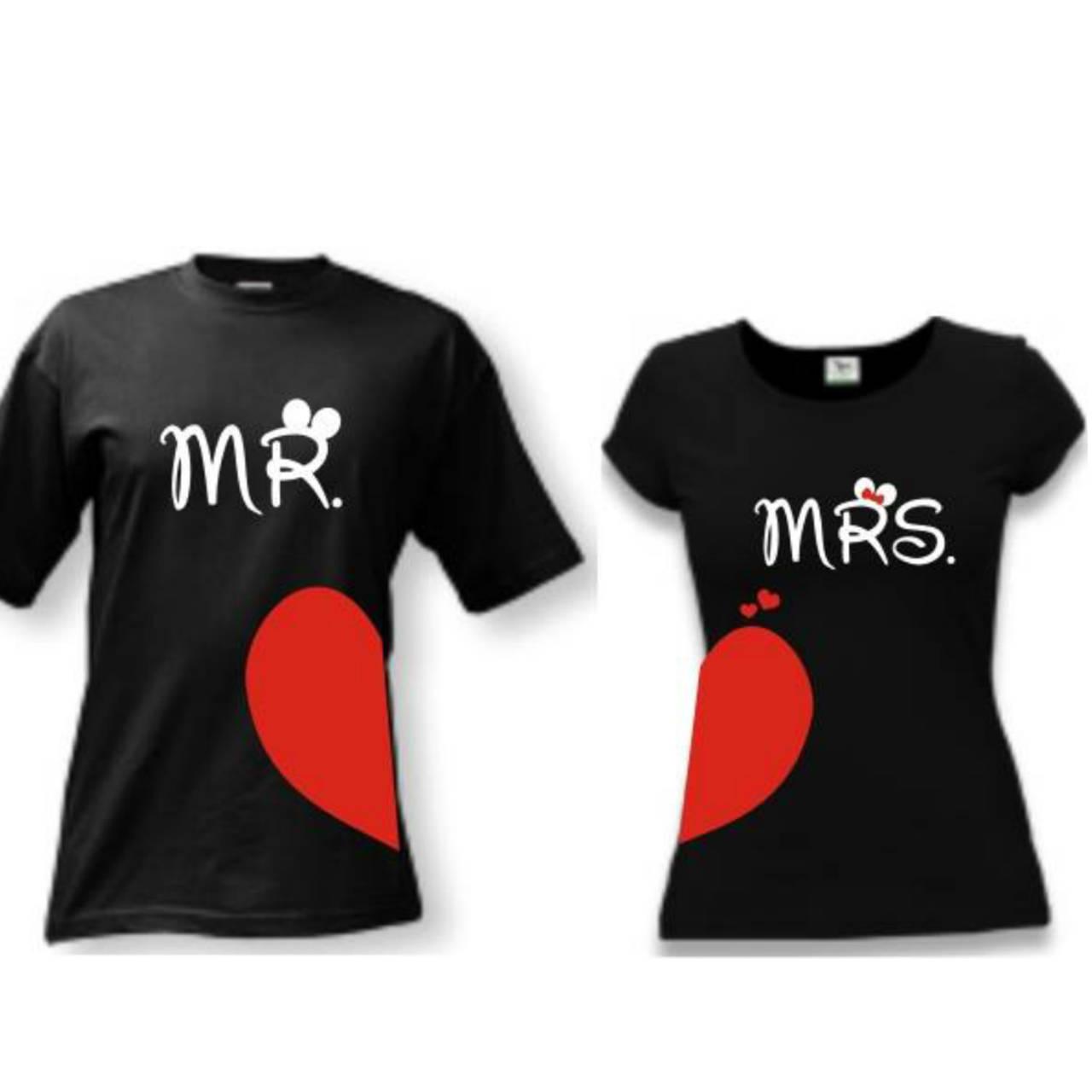 c27d831180b3 Mr a Mrs srdce - zaľúbené tričká pre pár   trickoland - SAShE.sk ...