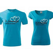 Tričká - Novomanželia - svadobné tričká - 9018671_