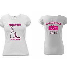Tričká - Nevestin TEAM - tričko na rozlúčku so slobodou - 9018767_