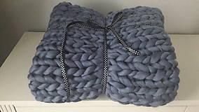 Úžitkový textil - Chunky deka - 9015634_