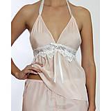 Pyžamy a župany - Jasmine - košieľka a nohavice, hodváb, rôzne farby - 9019524_