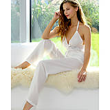 Pyžamy a župany - Lullaby - košieľka a nohavice, hodváb, rôzne farby - 9019606_
