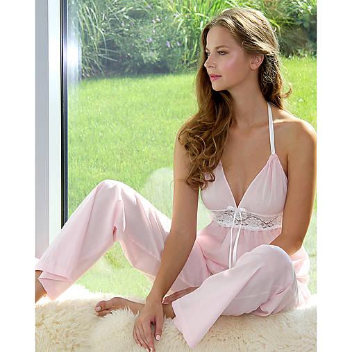 Pyžamy a župany - Lullaby - košieľka a nohavice, rôzne farby - 9019811_