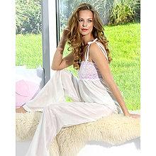 Pyžamy a župany - Angel - košieľka a nohavice, hodváb - 9019165_