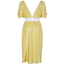 Pyžamy a župany - Casablanca zlatá - nočná košeľa, hodváb - 9019247_