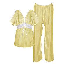 Pyžamy a župany - Casablanca - košieľka a nohavice, hodváb, rôzne farby - 9019260_