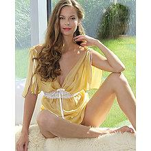 Pyžamy a župany - Casablanca - košieľka a nohavičky, hodváb, rôzne farby - 9019266_