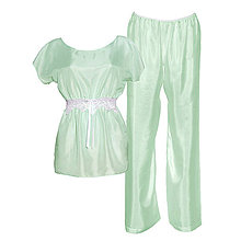 Pyžamy a župany - Jasmine - kimono vrch a nohavice, hodváb,  rôzne farby - 9019481_