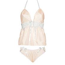Pyžamy a župany - Jasmine - košieľka a nohavičky, hodváb, rôzne farby - 9019517_