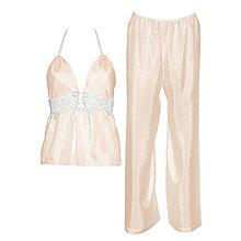 Pyžamy a župany - Jasmine - košieľka a nohavice, hodváb, rôzne farby - 9019519_