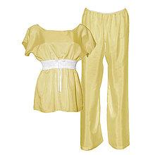 Pyžamy a župany - Lullaby - kimono vrch a nohavice, hodváb, rôzne farby - 9019569_