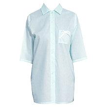 Pyžamy a župany - Lotus modrá - dlhá košeľa - 9019843_