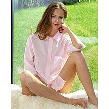 Pyžamy a župany - Lotus ružová - dlhá košeľa - 9019855_