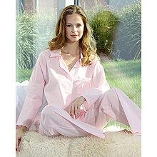 Pyžamy a župany - Lotus ružová - košeľa s dlhým rukávom a nohavicami - 9019865_