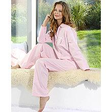 Pyžamy a župany - Lotus flanel – košeľa s nohavicami, rôzne farby - 9019912_
