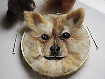 Dekorácie - Obraz plstený portrét psa - 9017096_