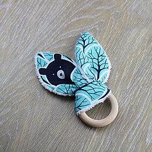 Hračky - Hryzadielko - medveď - lesná kolekcia - 9016983_