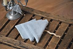 Úžitkový textil - ľanový obrúsok/vreckovka - 9018183_