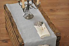 Úžitkový textil - ľanový obrúsok/vreckovka (biely) - 9018244_