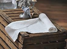 Úžitkový textil - ľanová štóla (biela) - 9018297_
