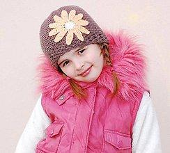 Detské čiapky - Jarna v hnedom... - 9015526_