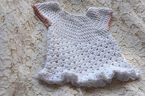 Bielo-ružové šaty pre novorodenca EXTRA FINE   MolieBaby - SAShE.sk ... 3f2a2319f4e