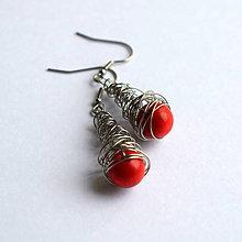 Náušnice - Červené drevo - 9015081_