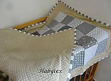 Textil - Patchwork deka pre detičky - 9015282_