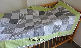 Textil - Patchwork deka pre detičky - 9015463_