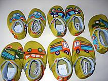 Topánočky - capačky autíčka - 9015624_