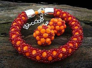 Sady šperkov - RED ORANGE - 9016892_