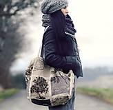 Veľké tašky - Velká lněná taška Strom - 9017508_