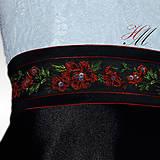 Šaty - Spoločenské šaty s folk opaskom - 9018624_