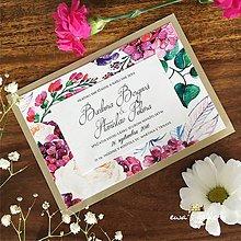 Papiernictvo - Svadobné oznámenie ~Flower Silver~ - 9016000_