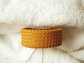 Náramky - Náramok kožený, pletený - 9017288_