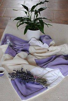 Textil - Fialková dečka pre dievčatká - 9015797_