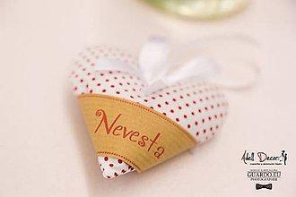 Darčeky pre svadobčanov - svadobné Levandulovo-levandinové srdiečka - 9018900_