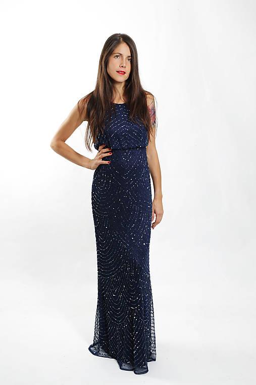 Modré kamienkové šaty   ceccilia - SAShE.sk - Handmade Šaty e6d5f3e1587